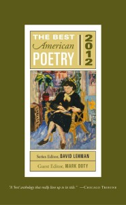 anthology best american poetry 2012